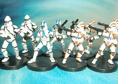 Star Wars Miniatures Lot  Clone Trooper Gunner Assault !!  s97