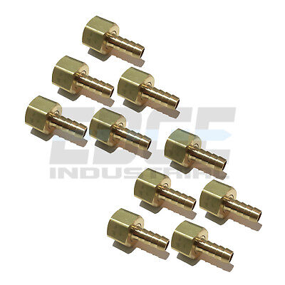 1//4 HOSE ID TO 1//8 FEMALE NPSM BRASS BALL SEAT SWIVEL CONNECTOR  Gas Fuel WOG