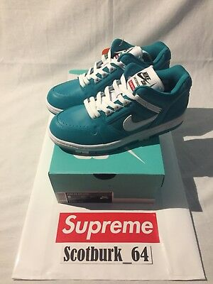 Supreme Nike SB Air Force 2 Teal Size 8 Brand New DS MAKE OFFER Box Logo 9be0903b6