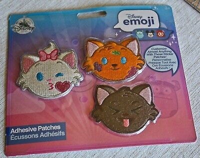 NEW Disney Emoji Adhesive Patches The Aristocats Berlioz, Marie and Toulouse