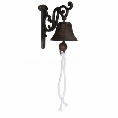 Iron Door Bell Chime Wall Mounted Rust Garden Decor Vintage Antique Cast 2018