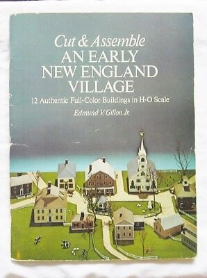 Cut and Assemble an Early New England Village by Edmund V. Gillon Jr. 1977