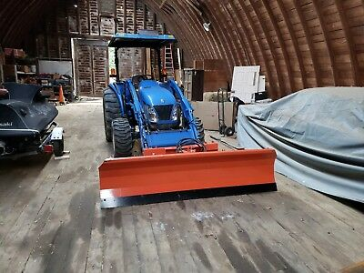 8'wide quick attach tractor / Skid steer power angle pusher snow plow