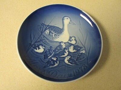 Mother's Day Plate Mors Dag 1970 Bird & Babes Denmark B&g Copenhagen Porcelain!