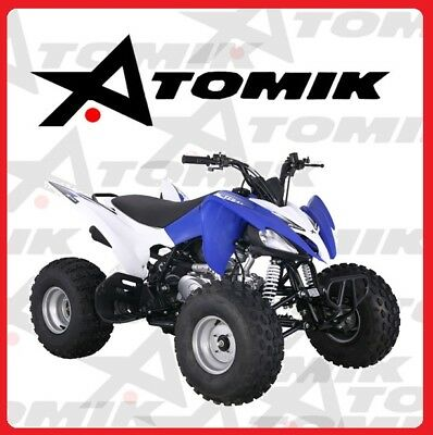 New Atomik Feral 125Cc Atv Quad Dirt Bike 4 Wheeler Trail Mx Terrian Motorcross