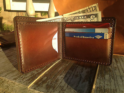 Personalized High Quality Hand Made Genuine Leather Men Wallet New Dark Brown