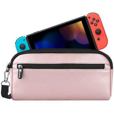 For Nintendo Switch Carrying Case Protective Sleeve Pouch Bag with Side Pocket
