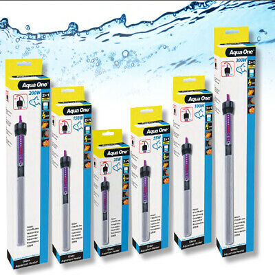 Aqua One Automatic Submersible Glass Aquarium Fish Tank Heater
