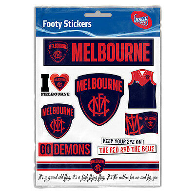 Official AFL Melbourne Demons Footy Stickers Sticker Sheet Pack