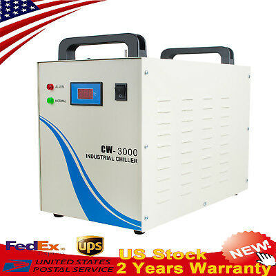 Warranty Industrial Water Chiller CW-3000 For CNC/ Laser Engraving Machine 110V