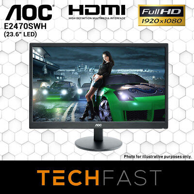 "24"" AOC E2470SWH LED 1MS FHD Gaming Desktop Monitor"