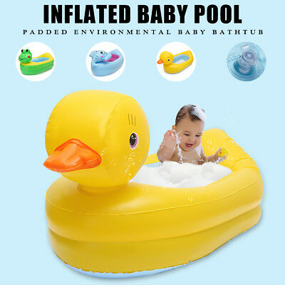 Inflatable PVC Safety Baby Toddlers Kids Basin Bath Tub Shower Swimming Pool