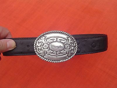 Wrangler Leather Buckle Belt  20 inch NWT