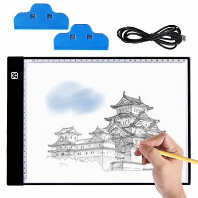 A4 LED Light Box Tracing Tattoo Bord Artcraft Drawing Pad Portable Ultra-thin