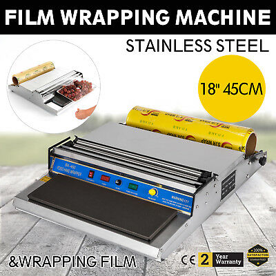 18 In/450cm Hand Wrapping Machine Film Wrapper for Food Packaging &1 Roll Film