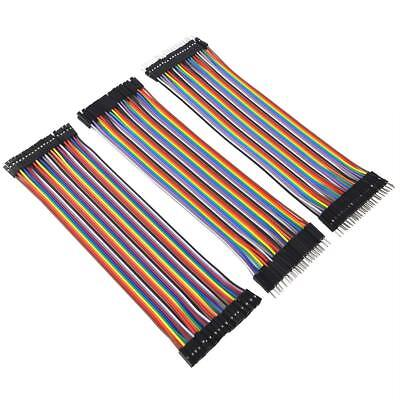 120Pcs Male to Female Dupont wire cables Jumpers Cable Breadboard For Arduino