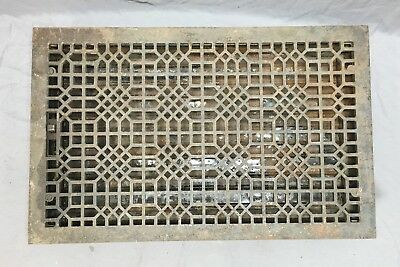 Extra Large Antique Cast Iron Heat Grate Vent Floor Register Old 30x18 295-18E