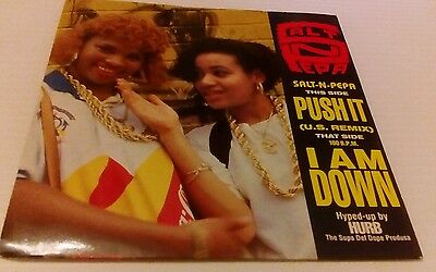 "Push It - US Remix - P/S Salt N Pepa 7"" vinyl single record UK FFRR2 1988 nm nm"
