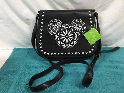 c4afa99481 Vera Bradley Disney Mickey Mouse Icon Laser Cut Cross Body Bag Black Purse