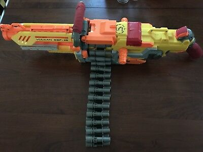 Nerf Vulcan EBF-25 Automatic Machine Gun with Ammo Belt Nerf Gun