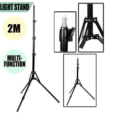 7FT Light Stand Photo Video Studio Reflexed Lighting Photography Flash Tripod