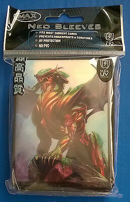 Max Protection Sentinel Dragon - Neo Trading Card Sleeves - 50 Pack - Large MTG