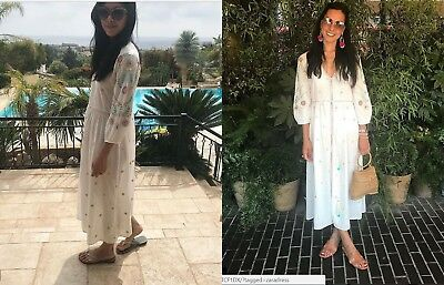 zara woman maxikleid pareo kleid midi sarong blumen floral kimono kaftan xs l eur 55 00. Black Bedroom Furniture Sets. Home Design Ideas