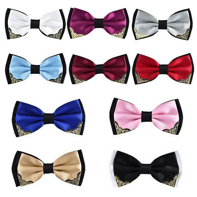 Mens Colorful Bowtie Business Wedding Groom Cocktail Tuxedo Bow Tie Necktie US