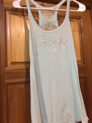 "I Do, Victoria's Secret ""Tied The Knot"" Tank Top Women's Medium Wedding Edition"