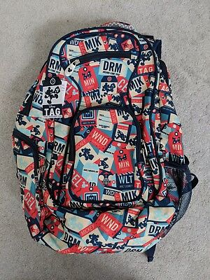 2018 Disney Parks TAG Collection Mickey Mouse Travel Backpack Luggage Bag - NEW