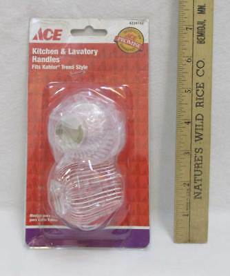 Kitchen Lavatory Handles Fits Kohler Trend Style Knobs Hot Cold Water Ace NOS