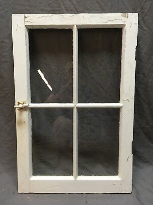Antique 4 Lite Casement Cupboard Window Cabinet Pantry Shabby Vtg Chic 307-18E