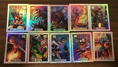 1994 MARVEL MASTERPIECES -- Holofoil Cards -- Full Subset of 10 -- Venom