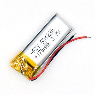 5 pcs 501230 170mAh 3.7 V Li-Polymer Rechargeable Battery LiPo Cell for GPS MP3