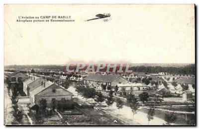 Camp de Mailly - Aeroplane partant en Reconnaissance - avion - airplane - CPA