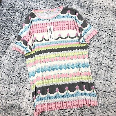 """WILDFOX Frosted Party Doll Mini """"RARE"""" Print Cake Frosting Dress"""