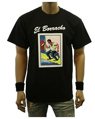 graphic t shirt loteria borracho funny tee drinking card mexican
