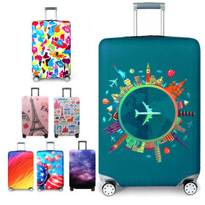 """Protective Suitcase Travel Luggage Cover Cartoon Trolley Case Dust Cover 18""""~32"""""""