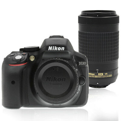 Nikon D5300 24MP Digital SLR Camera with 70-300mm AF-P DX Nikkor Lens