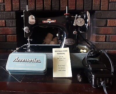 Domestic Deluxe Sewing Machine With Case, Manual and Accessories MINT!