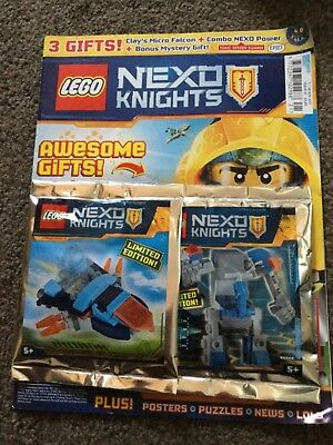 LEGO Nexo Knights issue  21 1st Nov - 28th nov With free gifts mighty mech