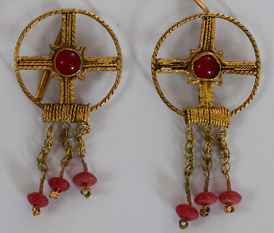 Scythian Kings Pair Gold Earring 500-400 B.c.