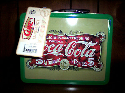 Coca-Cola Retro Look Tin Lunch Box New With Tag