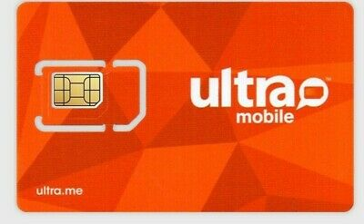 PORT ONLY - PreLoaded Ultra Mobile SIM Card+$29 Plan 1st Month INCLUDED