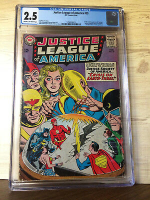Justice League of America #29 (Aug 1964, DC) CGC 2.5 JSA Crisis on Earth-Three