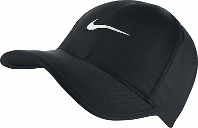 factory authentic 142f8 0d347 NIKE Featherlight Featherlite Running Tennis Hat Cap Black Adult 679421-010