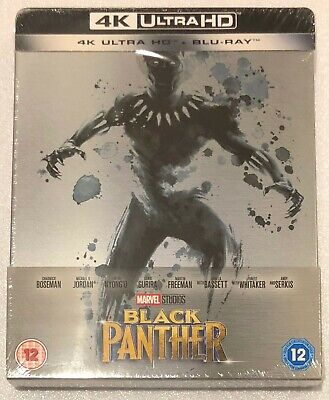 Black Panther 4K Ultra HD Steelbook - UK Exclusive Limited Edition Blu-Ray