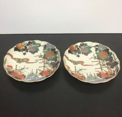 Two Antique Chinese Enamel On Porcelain Plates Signed