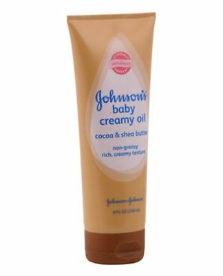 JOHNSON'S Baby Creamy Oil Cocoa - Shea Butter 8 oz