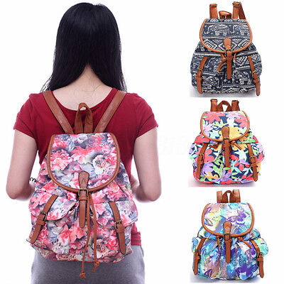 Women Girl School Backpack Elephant Shoulder Bookbag Rucksack Satchel Travel Bag